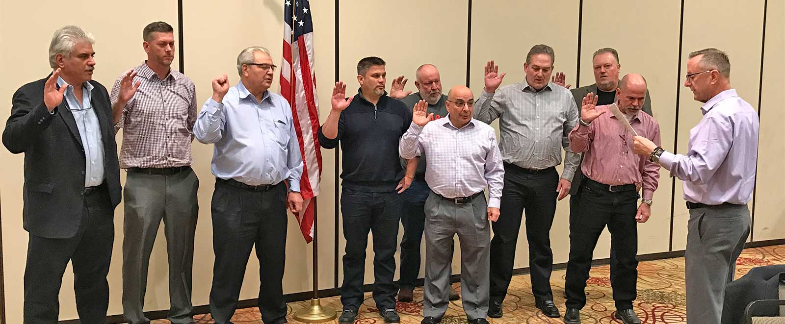 Tri-State District Council Board Swearing In